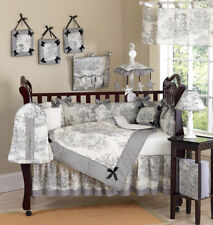 Black French Toile Baby Bedding Crib Set for Newborn Girl by Sweet Jojo Designs