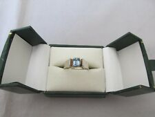 18ct White Gold Aquamarine Ring with valuation $2,150