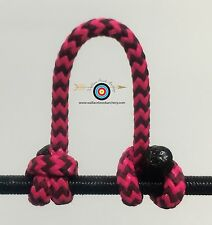 3 Pack- Speckled  Pink/Black  Archery Release Bow String D Loop, BCY #24