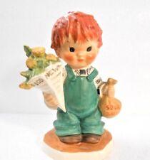 Goebel #26 Good News Little Red Head Boy w/ Flowers