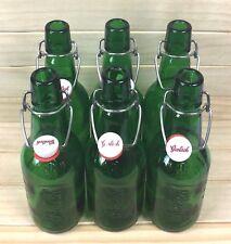 GROLSCH BEER BOTTLES Swing Top Resealable Green 15.2 Ounces Home Brew Lot of 6