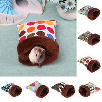 Warm Plush Hamster Nest Bed House Soft Guinea Pig Cat Pocket Sleeping Bag Cage