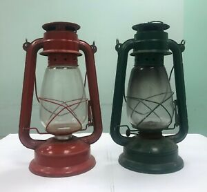 Set Original Navy Ship Lanterns (Green & Red)