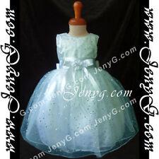 Robes soirées bleu sans manches pour fille de 2 à 16 ans
