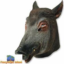 WILD PIG BOAR ANIMAL OVERHEAD MASK Unisex Fancy Dress Costume Accessory