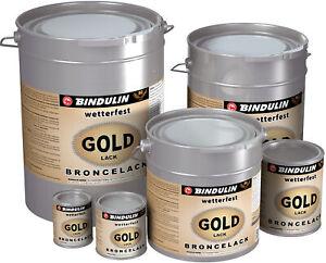 Bindulin Goldlack wetterfest Grundierung Rostschutz Metallfarbe Goldfarbe Deko