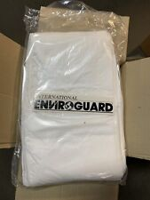 (10 Pc) Enviroguard Hooded Disposable Head Hoods Covers White Chemical Particles