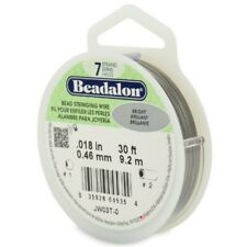 Bright Bead Stringing Wire - Beadalon 7 Strand 046mm Diameter 92 Reel