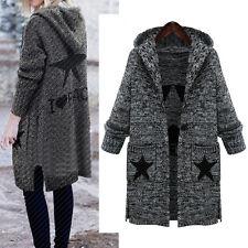Women Ladies Warm Knit Coat Jacket Long Sleeve AU Size 14 16 18 20 22 24 26 806