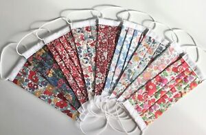 FLORAL LIBERTY OF LONDON FABRIC  FACE MASKS WASHABLE AND DOUBLE LAYER