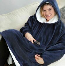 NEW OODIE Style WEARABLE BLANKET WARM AND SUPER SOFT BLUE. FREE SHIPPING