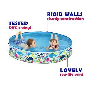 Rigid Walls Paddling Pool For Children Ball Sand Pit Activity Kids Summer Toy
