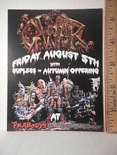 Gwar Cleveland Ohio Concert Advertising Card  213OF.