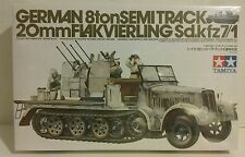 Tamiya 1/35 scale German 8ton Sd.kfz.7/1 Halftrack, with 20mm Flakvierling.