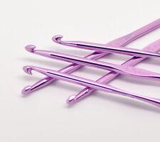 10 New 4.5mm Aluminium Metal Crochet Hooks UK Seller colour 4.5mm hook 15cm long