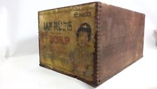Antique Jap Rose Soap Wood Wooden Shipping Box Crate Advertising Sign Folk Art