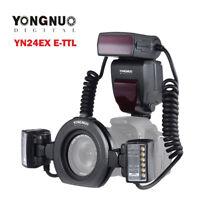 YONGNUO YN24EX E-TTL LED Macro Flash Speedlite Lens Light for Canon DSLR Camera