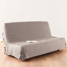 Housse clic-clac Lin Beige  100 % Cotton 140 x 200 Canapé Nouettes Belle Qualité