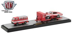 1:64 M2 Machines *COCA COLA TW05* 1964 A100 Camper Trailer & Charger Gasser NIB