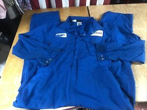 Workrite Blue Nomex IIIA Flame Resistant COVERALLS 48 L XLT XL Tall Used HRC1