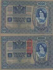 AUSTRIA 1000 KRONER. 2 de Junio de 1902. Serie 155 Nº 72211. Tamaño 193x130.