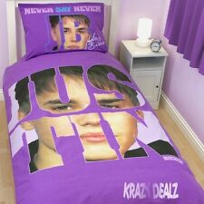 Justin Bieber Autograph Single Panel Duvet Cover Bed Set Official Bieleber Gift