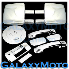 07-12 TOYOTA TUNDRA Towing Mirror+Chrome 4 Door Handle no PSG+Tailgate+Gas Cover