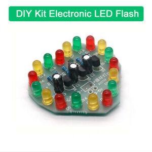 LED Blitzlicht Bausatz Flashing Light mit 12 LEDs DIY-Elektronik Kit zum Löten