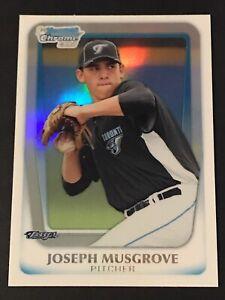 2011 (1ST) Bowman Chrome Draft JOE MUSGROVE Refractor TRUE Rookie RC (NO-HITTER)