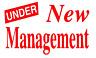 2ft UNDER NEW MANAGEMENT Shop Front Window Sticker Retail Display Vinyl Decal