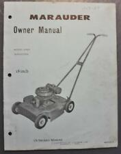 "Orig 1959-60 OMC Marauder 18"" Lawn Mower Owner's Manual Model 89MH P/N 402913-9"