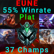 EUNE Plat League of Legends Account LoL Acc Project Yasuo Riot Kayle KDA Evelynn