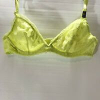 Victorias Secret Bralette Yellow Lace Adjustable Strap Size XS NEW with tags