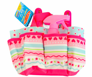 Melissa & Doug Sunny Patch Giddy Buggy Tote Set New Beach Fun For Kids PINK