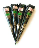 FREE SHIP!! 4 Natural Prem Dulhan Brown Temporary Tattoo Henna Ink Cone