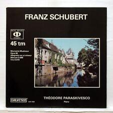 THEODORE PARASKIVESCO - SCHUBERT piano works SARASTRO LP NM