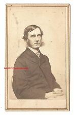 ESTATE ANTIQUE GEORGE W. CURTIS AUTOGRAPH CARTE-DE-VISITE-CDV SIGNED GW CURTIS