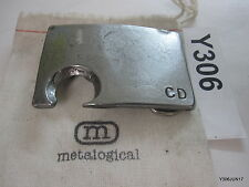 Blacksmith Forged Steel Anvil Belt Buckle Bottle Opener Stamped CD on the Front,