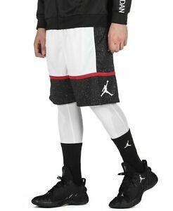 Nike Air Jordan Jumpman GRAPHIC BASKETBALL SHORTS - WHITE AV3211-010 Choose Size