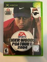 TIGER WOODS PGA TOUR 2004 - XBOX - COMPLETE WITH MANUAL - FREE S/H - (T9)