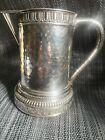 antique 1883 theodore b. starr hand hammered sterling silver tankard mug pitcher