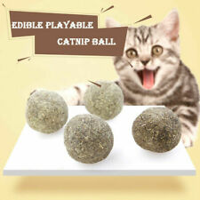 Natural Cat Mint Ball Catnip Healthy Snack Edible Pet Toy Clean Teeth Care