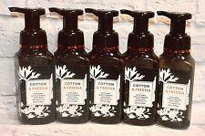 5 BATH & BODY WORKS WHITE BARN COTTON & FREESIA GENTLE FOAMING HAND SOAP WASH