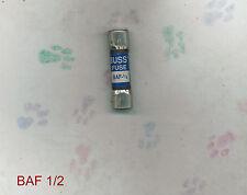 NEW BUSSMAN BAF1/2 FUSE 1/2 AMP 125 VOLT BAF-1/2