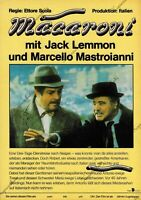 "DDR Progress Filmplakat A3 Macaroni ""Jack Lemmon / Marcello Mastroianni"""