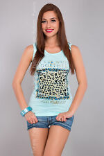 Ladies Vest Top Live For Love Sleeveless Casual Cotton T-Shirt Sizes 8-14 FB52