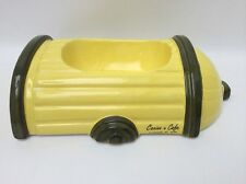 Canine Cafe Fire Hydrant Ceramic Dog Food Bowl Yellow New