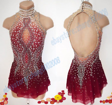 Ice Skating Dress.2018 Competition Figure Skating.Dance Baton Twirling Costumes