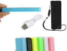 5600mAh SLIM USB PORTATILE POWER BANK BATTERIA CARICABATTERIE Pack per iPhone Samsung HTC