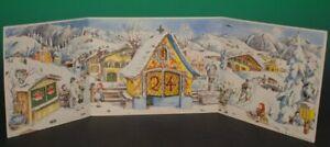 Adventskalender zum aufstellen * winterliches Alpendorf * Sellmer Verlag 1955